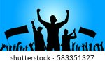 background with cheering people | Shutterstock .eps vector #583351327