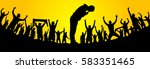crowd of fans for sports.... | Shutterstock .eps vector #583351465