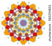 vector mandala  round geometric ... | Shutterstock .eps vector #583354831