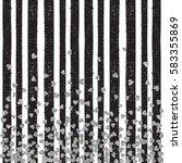 silver pattern of falling... | Shutterstock .eps vector #583355869