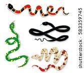 toxic snake cartoon vector set... | Shutterstock .eps vector #583359745