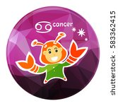 zodiac sign cancer isolated on... | Shutterstock .eps vector #583362415