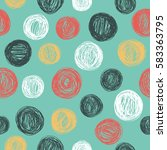 seamless pattern with hand... | Shutterstock .eps vector #583363795