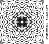abstract simple mandala pattern.... | Shutterstock .eps vector #583364395