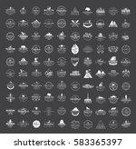big set of 100 premium labels... | Shutterstock . vector #583365397