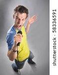 singing man | Shutterstock . vector #58336591