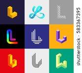 "letter ""l"" big logo pack.... | Shutterstock .eps vector #583367395"