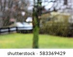An Image Of Raindrops On The...