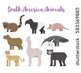 Vector Flat Style Set Animals...