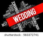 wedding word cloud collage ... | Shutterstock .eps vector #583372741