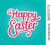 happy easter typography poster... | Shutterstock .eps vector #583375771
