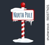 christmas icon north pole sign... | Shutterstock . vector #583377631