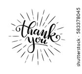 thank you lettering for... | Shutterstock .eps vector #583378045