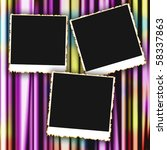 blank photo frames on colored... | Shutterstock . vector #58337863