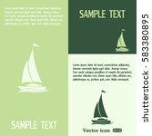 yacht vector icon | Shutterstock .eps vector #583380895