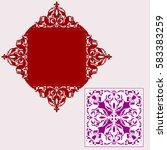 square laser cut wedding... | Shutterstock .eps vector #583383259