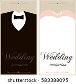 wedding card flyer pages... | Shutterstock . vector #583388095