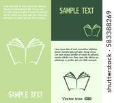 vector book icon | Shutterstock .eps vector #583388269
