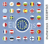vector set of european union... | Shutterstock .eps vector #583389565