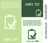 vector checklist icon  | Shutterstock .eps vector #583389685