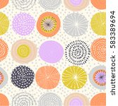 vector seamless pattern with... | Shutterstock .eps vector #583389694