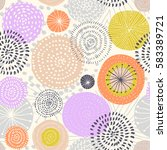 vector seamless pattern with... | Shutterstock .eps vector #583389721