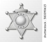 sheriff silver star. vector... | Shutterstock .eps vector #583390615