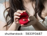 the young woman makes a... | Shutterstock . vector #583393687