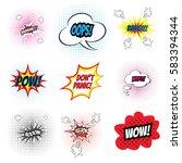 comic sound effects. speech... | Shutterstock .eps vector #583394344