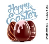 easter holiday bright postcard... | Shutterstock .eps vector #583395151