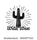 cactus. americanlegend. wild... | Shutterstock .eps vector #583397761