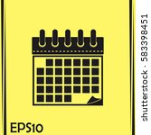 vector illustration of calendar ... | Shutterstock .eps vector #583398451