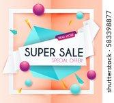 sale banners design  discounts... | Shutterstock .eps vector #583398877
