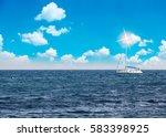 sea surface summer wave... | Shutterstock . vector #583398925