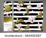 spring inspiration cards and... | Shutterstock .eps vector #583400587