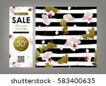 gift certificate  voucher ... | Shutterstock .eps vector #583400635