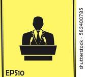 speaker icon. orator speaking... | Shutterstock .eps vector #583400785