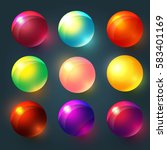 Colorful Glossy Spheres  Balls...
