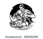 radio repairman 1   retro clip... | Shutterstock .eps vector #58340290