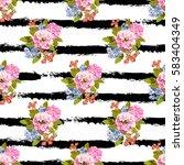 elegant seamless pattern with... | Shutterstock .eps vector #583404349