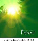 coniferous forest background... | Shutterstock .eps vector #583405021