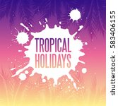Tropical Holidays Illustration...
