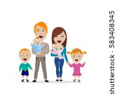 vector illustration of happy... | Shutterstock .eps vector #583408345