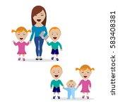 vector illustration of happy... | Shutterstock .eps vector #583408381