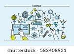 line art colorful vector... | Shutterstock .eps vector #583408921