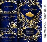 luxury wedding invitation and... | Shutterstock .eps vector #583410841