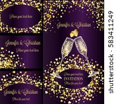 luxury wedding invitation and... | Shutterstock .eps vector #583411249