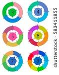set of arrows info graphic... | Shutterstock .eps vector #583411855