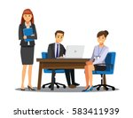 business people teamwork ... | Shutterstock .eps vector #583411939