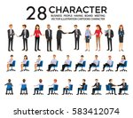 group of business people ... | Shutterstock .eps vector #583412074